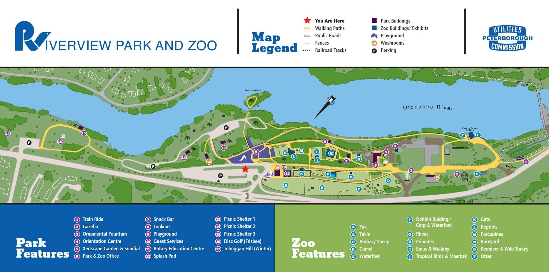 Map of Riverview Park & Zoo - 2008