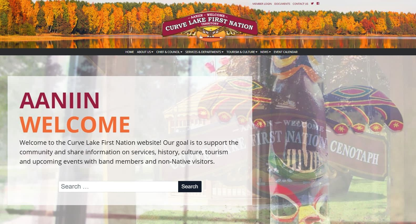 Curve Lake First Nation Website